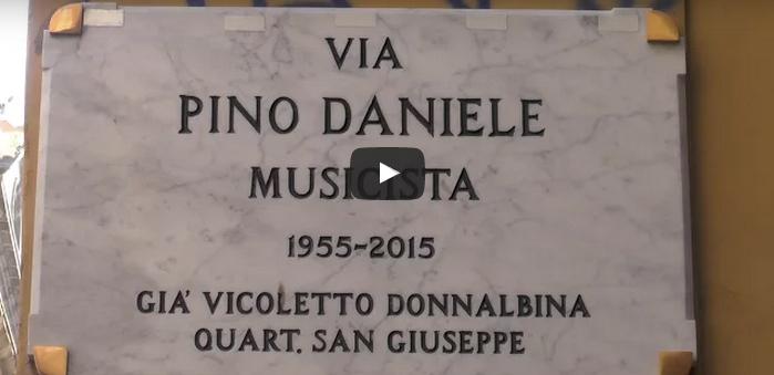Via Pino Daniele: a tempo di record, la strada per Pino