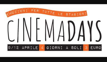 Cinemadays – Emozioni per tutte le stagioni al cinema a soli € 3,00