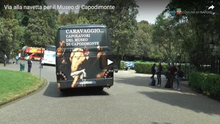 Via alla navetta per il Museo di Capodimonte