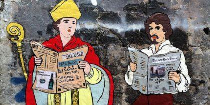 Il murale di San Gennaro e Caravaggio a Napoli: l'opera di Roxy in the Box