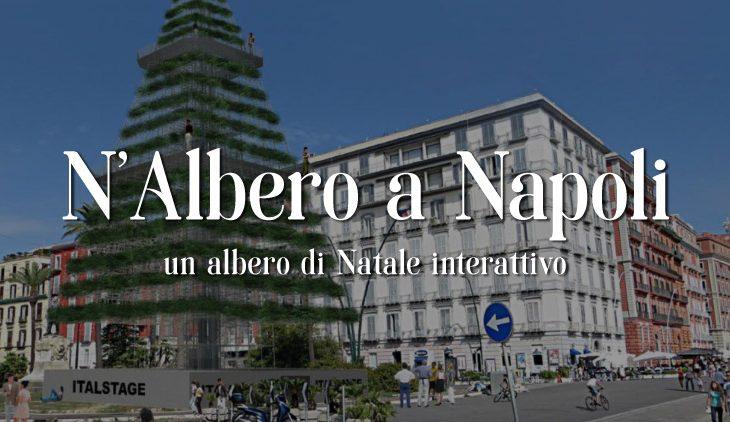 Natale a Napoli, un albero di 30 metri sul lungomare