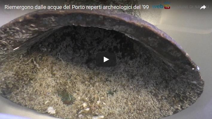 Riemergono dalle acque del Porto reperti archeologici del 1799