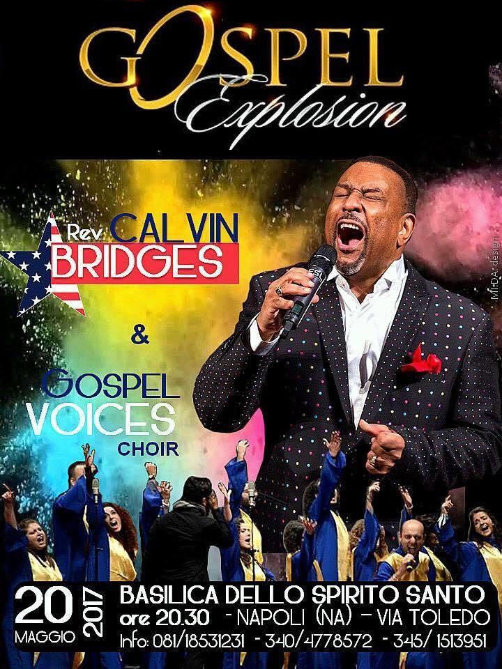 Mr. Calvin Bridges e i Gospel Voices in concerto a Napoli