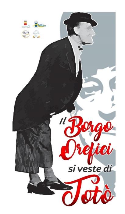 """Dal 1° al 30 Giugno la mostra atistica """"Il Borgo Orefici si veste di Totò"""""""