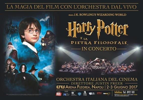Harry Potter: la magia del cine-concerto approda all'ETES Arena Flegrea