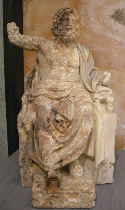 """Il Museo Getty restituisce """"Zeus in trono"""" all'Italia"""