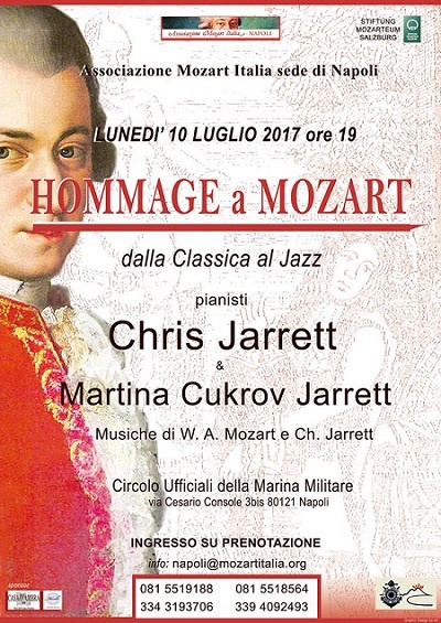 L'Associazione Mozart Italia di Napoli celebra di nuovo Mozart: i Jarrett al Circolo della Marina Militare il 10 luglio