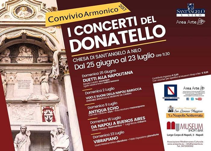 Convivo Armonico – I Concerti del Donatello dal 2 al 15 Luglio 2017