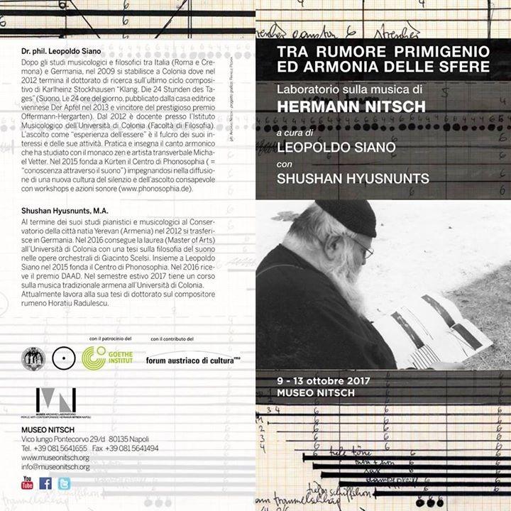 Laboratorio sulla musica di Hermann Nitsch