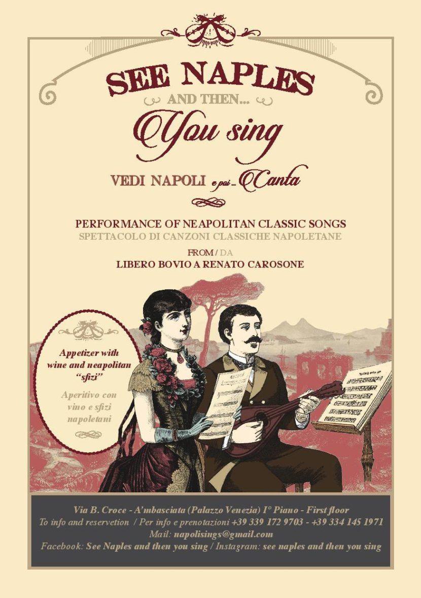 See Naples and then…you sing – Spettacolo di canzoni classiche napoletane a Palazzo Venezia