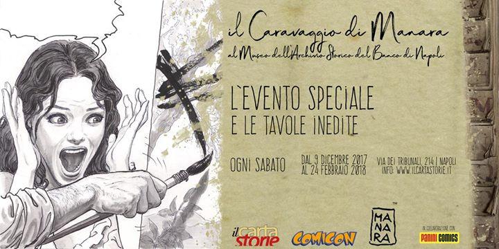 Il Caravaggio di Manara al Museo dell'Archivio Storico del Banco di Napoli