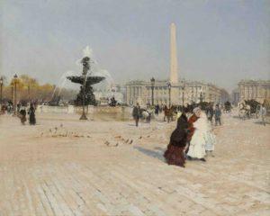 Un angolo di Place de la Concorde a Parigi di Giuseppe De Nittis