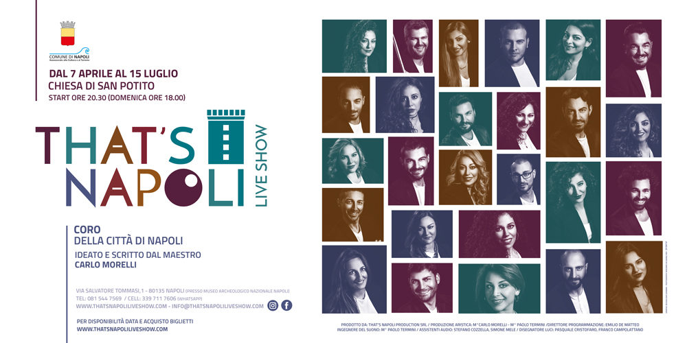 """""""That's Napoli Live Show"""", programmazione e date concerti nella Chiesa di San Potito"""