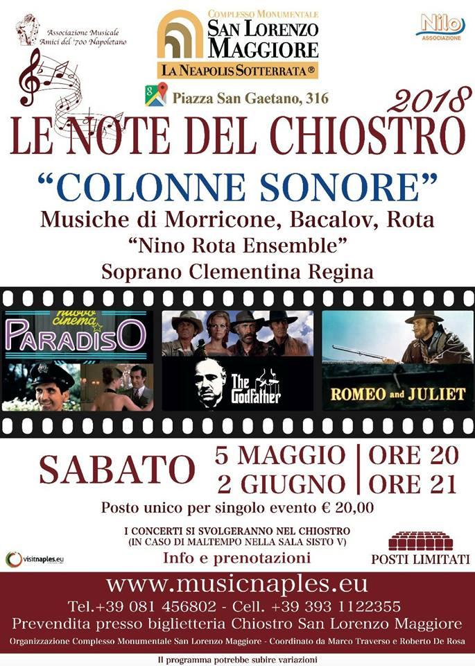 """""""Le note del Chiostro"""", concerto nella splendida cornice del Chiostro di San Lorenzo Maggiore"""