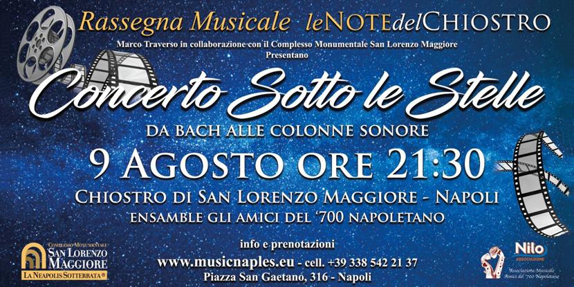 """""""Le note del Chiostro"""", concerto domenica 9 agosto nel Chiostro di San Lorenzo Maggiore"""