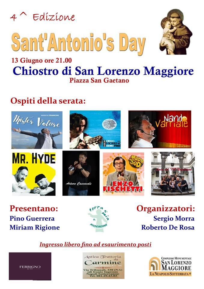 Chiostro di San Lorenzo Maggiore, 4 ^ Ediz. Sant'Antonio's Day