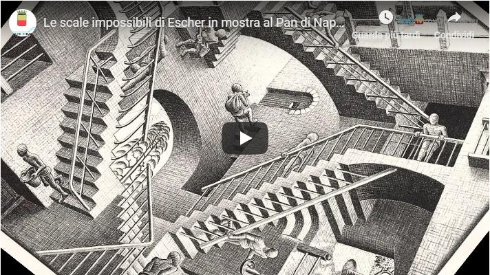 Le scale impossibili di Escher in mostra al Pan di Napoli