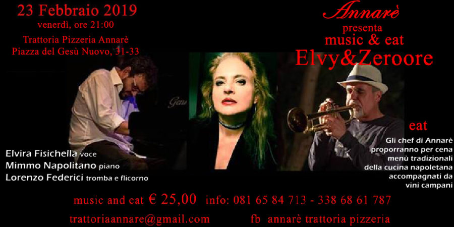 """Music & Eat"" – Elvy&ZeroOre Live in…Annarè"