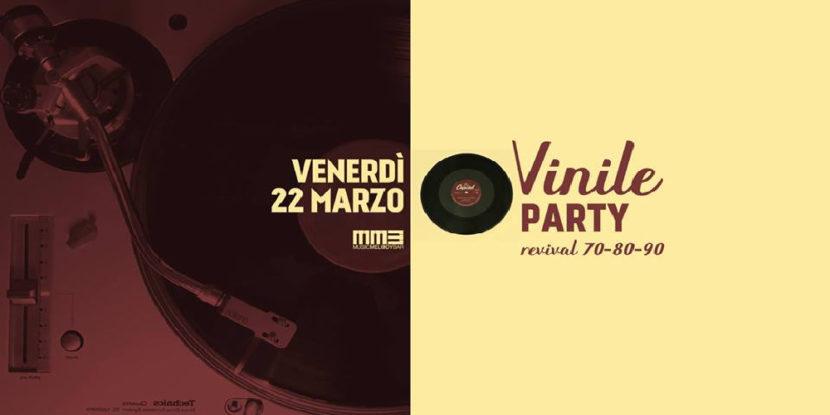 Vinyl Night Venerdì 22 marzo|DJ set solo vinili MMB (Music Melody Bar)