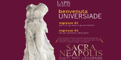 Ingresso speciale al LAPIS Museum agli atleti Napoli 2019 Summer Universiade.