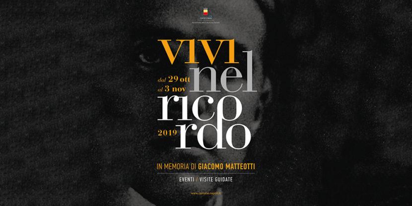"""""""Vivi nel Ricordo 2019"""" – Visite guidate e appuntamenti dedicati alla figura di Giacomo Matteotti"""
