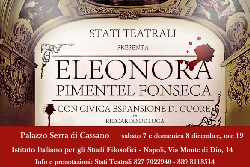 'Eleonora Pimentel Fonseca, con civica espansione di cuore' – 7 e 8 dicembre (Istituto Italiano per gli Studi Filosofici di Napoli)