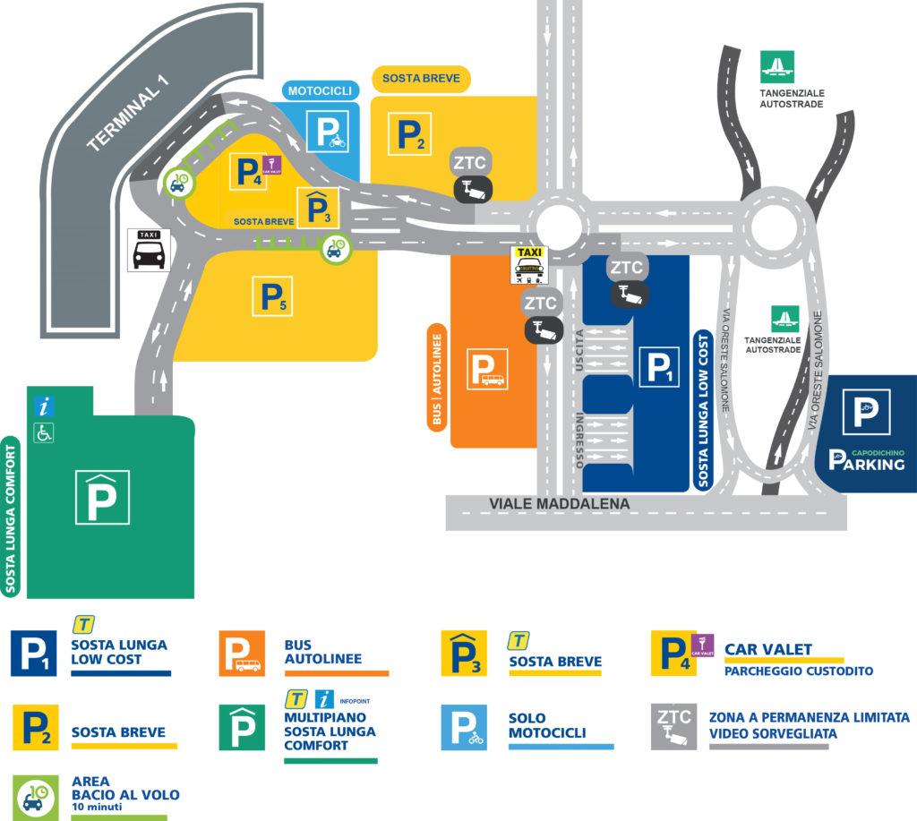 Mappa parcheggio Capodichino
