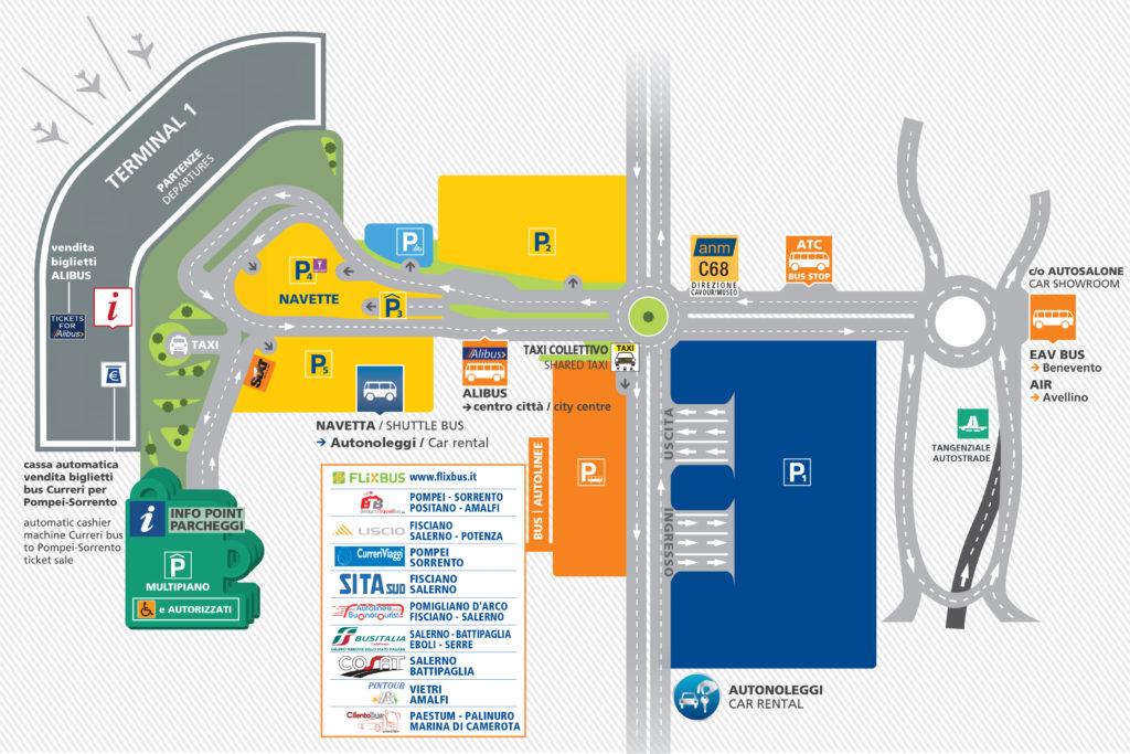 Mappa collegamenti trasporti